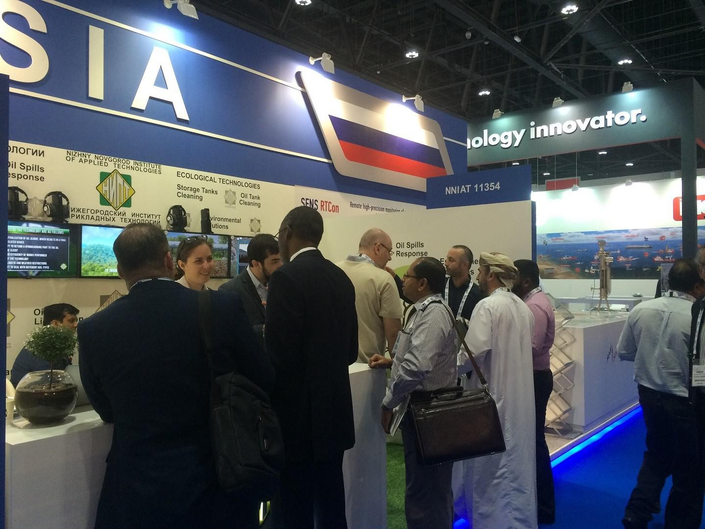 Nizhny Novgorod institute of applied technologies took part in the international oil exhibition ADIPEC
