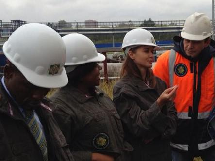 Return visit of representatives of the department of petroleum resources of Nigeria to the work site