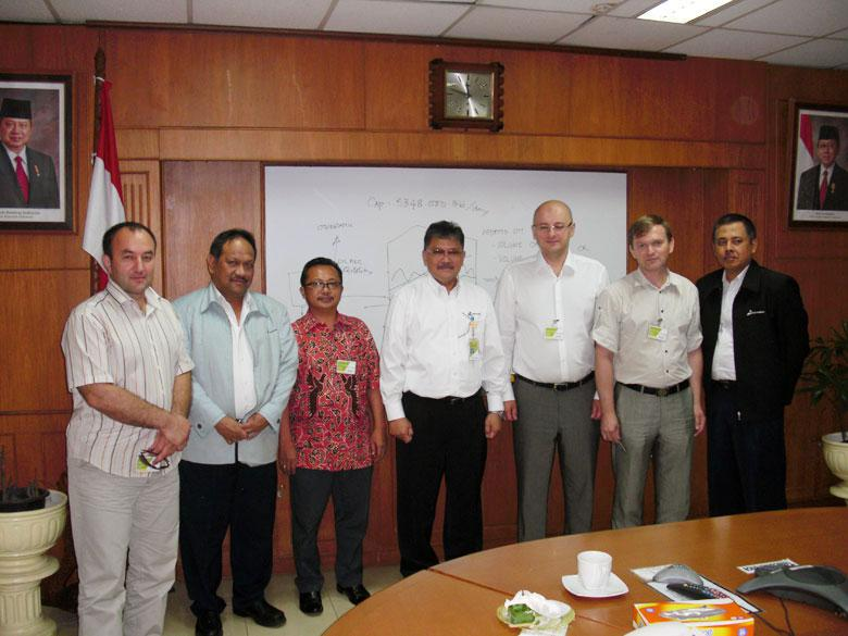 Visit to the Pertamina oil refinery in the city of Cilacap, Indonesia