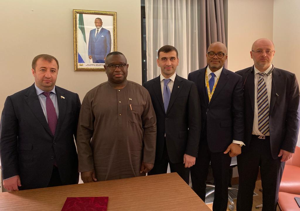 Management of the company holds a meeting with Julius Maada Bio, president of the republic of sierra Leone