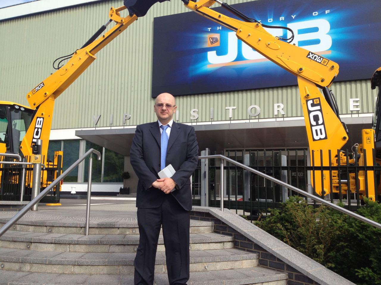 The company's management visit to JCB factory - manufacturer of backhoe loaders in Rochester, UK
